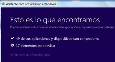 Asistente de compatibilidad a Windows 8