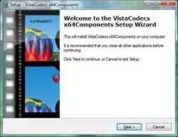 Windows Vista Codec Package